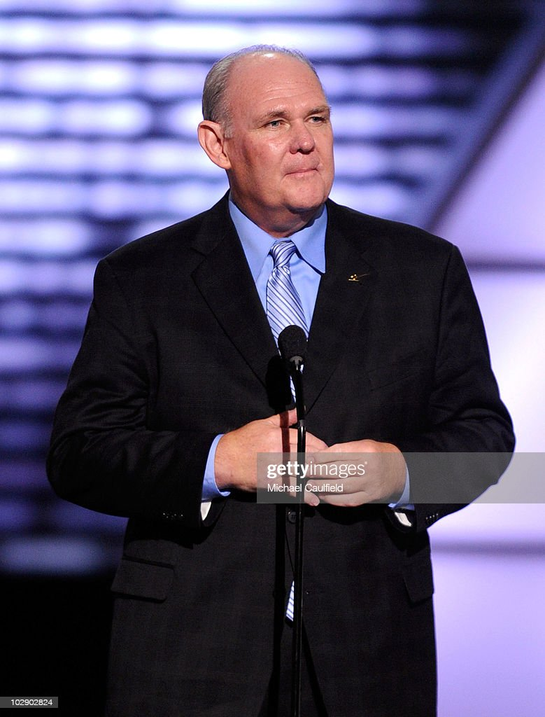 Head coach <a gi-track='captionPersonalityLinkClicked' href=/galleries/search?phrase=George+Karl&family=editorial&specificpeople=204519 ng-click='$event.stopPropagation()'>George Karl</a> of the Denver Nuggets onstage during the 2010 ESPY Awards at Nokia Theatre L.A. Live on July 14, 2010 in Los Angeles, California.