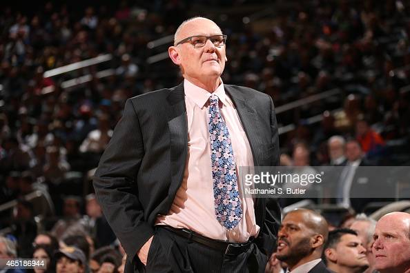 Head coach George Karl of the Sacramento Kings during the game against the New York Knicks on March 3 2015 at Madison Square Garden in New York City...