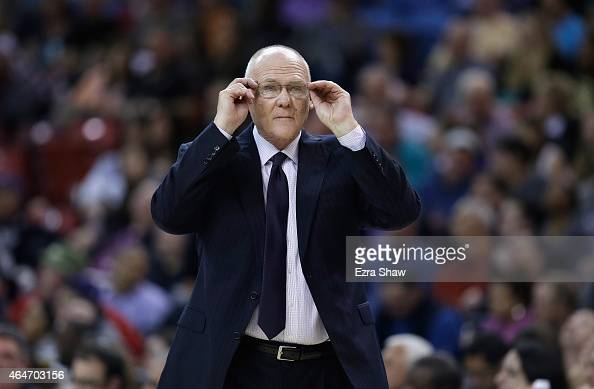 Head coach George Karl of the Sacramento Kings stands on the side of the court during their game against the Memphis Grizzlies at Sleep Train Arena...
