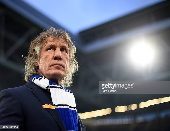 Head coach Gertjan Verbeek of Bochum looks on prior to the Second Bundesliga match between Fortuna Duesseldorf and VfL Bochum at Esprit Arena on...