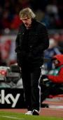Head coach Gertjan Verbeek of Nuernberg looks on during the Bundesliga match between 1 FC Nuernberg and FC Schalke 04 at Grundig Stadium on December...