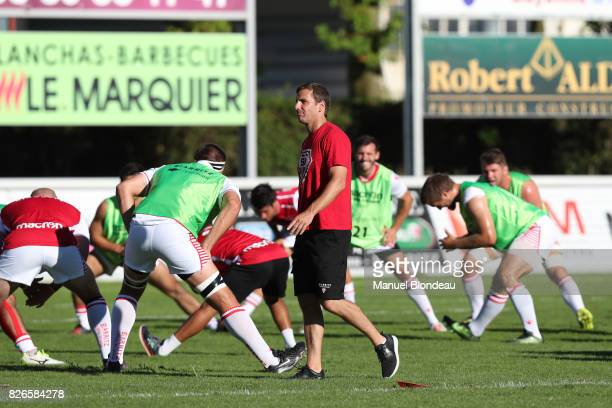 Head coach Gonzalo Quesada of Biarritz during the test match between Bordeaux Begles and Biarritz at Stade ChabanDelmas on August 4 2017 in Bordeaux...