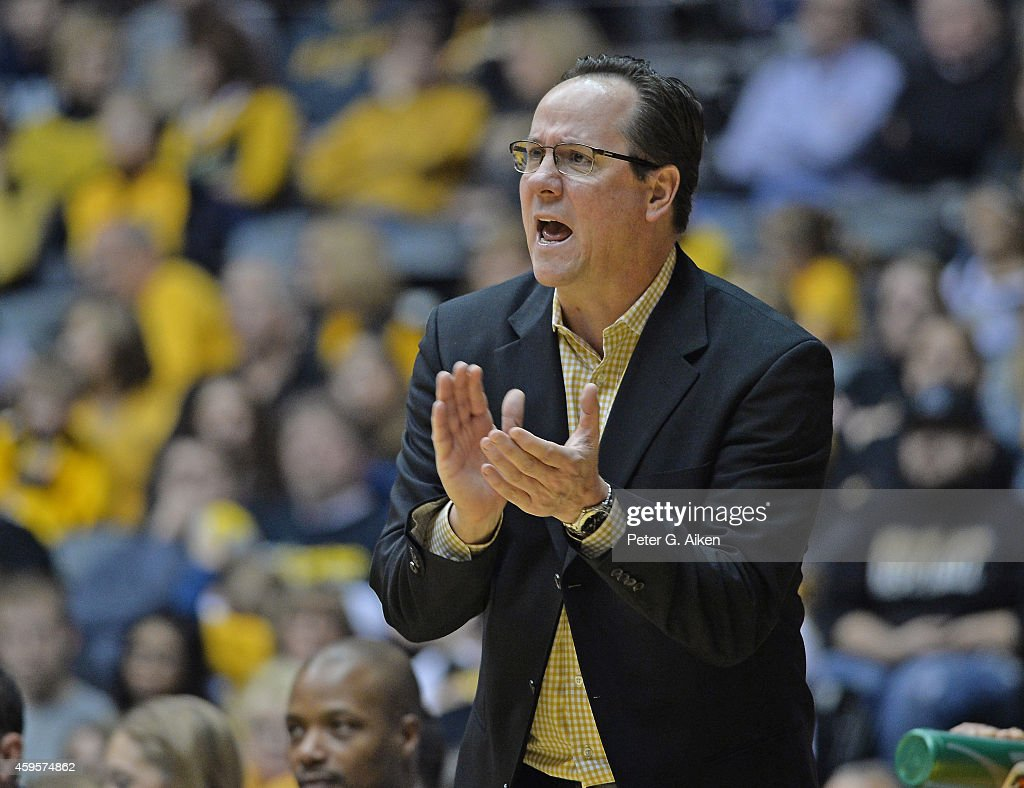 Head coach <a gi-track='captionPersonalityLinkClicked' href=/galleries/search?phrase=Gregg+Marshall&family=editorial&specificpeople=623591 ng-click='$event.stopPropagation()'>Gregg Marshall</a> of the Wichita State Shockers reacts to a play during the second half against the Newman Jets on November 23, 2014 at Charles Koch Arena in Wichita, Kansas.