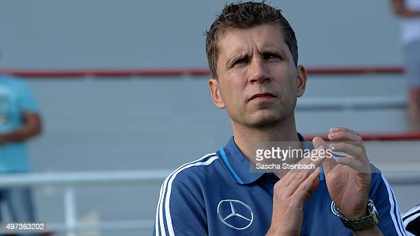 Head coach Guido Streichsbier of Germany looks on during the U18 four nations friendly tournament match between Turkey and Germany at Emirhan Sport...