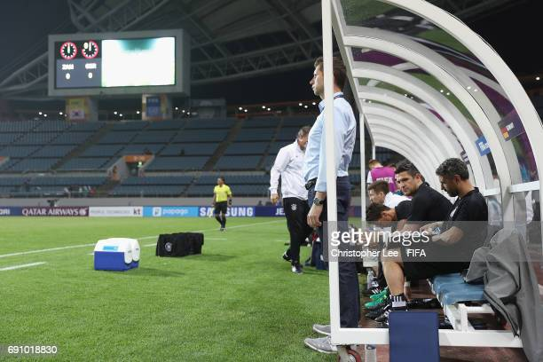 Head Coach Guido Streichsbier of Germany stands during the FIFA U20 World Cup Korea Republic 2017 Round of 16 match between Zambia and Germany at...