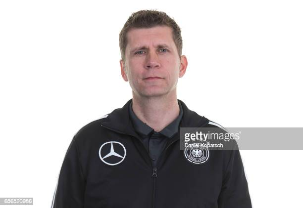 Head coach Guido Streichsbier poses during the Germany U20 Team Presentation on March 22 2017 in Homburg Germany