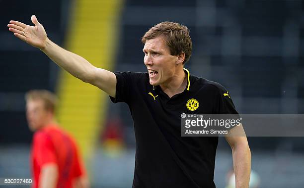 Head coach Hannes Wolf of Borussia Dortmund during the German U19 Championship Semi Final First Leg match between Borussia Dortmund and 1860 Muenchen...