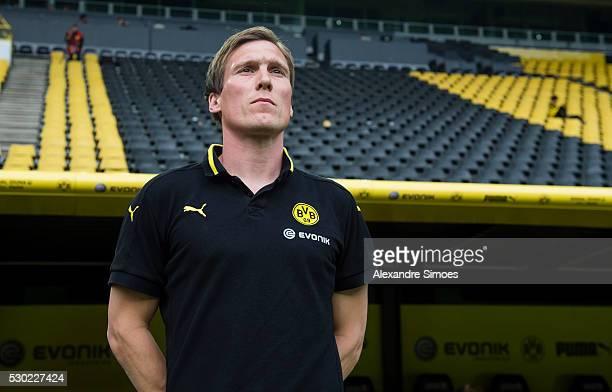 Head coach Hannes Wolf of Borussia Dortmund prior to the German U19 Championship Semi Final First Leg match between Borussia Dortmund and 1860...