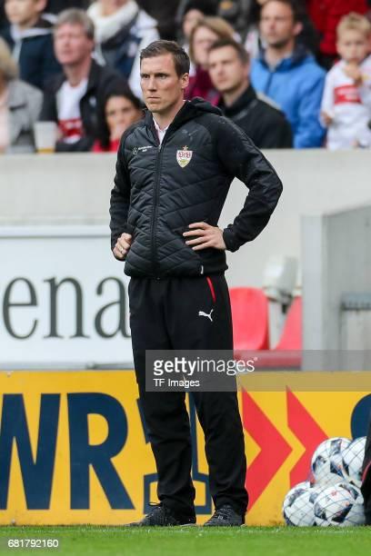 Head coach Hannes Wolf of Stuttgart looks on during the Second Bundesliga match between VfB Stuttgart and FC Erzgebirge Aue at MercedesBenz Arena on...