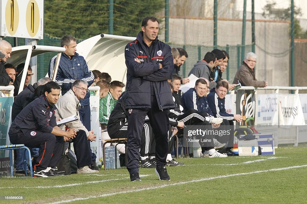 Head Coach Hector Capputo of Chile during the International Friendly match between U16 Germany and U16 Chile on March 26, 2013 in La Roche-sur-Yon, France.