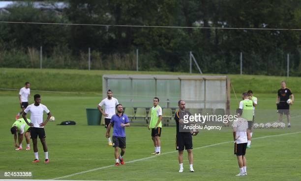 Head coach Igor Tudor of Galatasaray leads a training session of Galatasaray ahead of Turkish Super Toto Super Lig 201718 in Bad Waltersdorf town of...