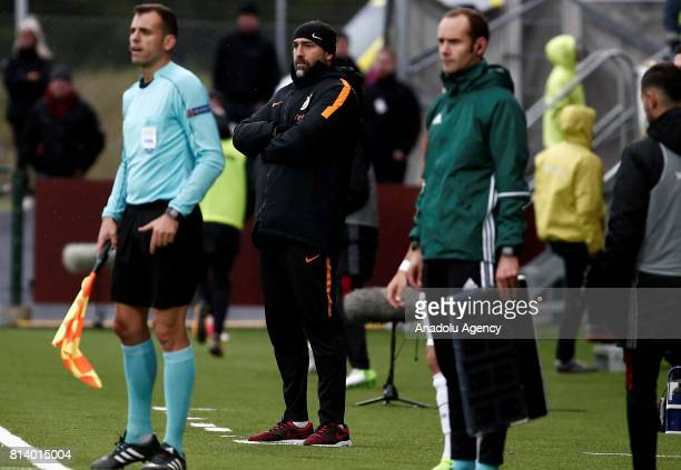 Head coach Igor Tudor of Galatasaray looks on during the UEFA Europa League 2nd Qualifying Round soccer match between Galatasaray and Ostersund FK at...