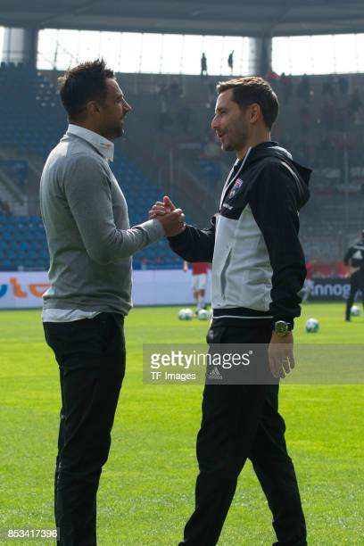 Head coach Ismail Atalan of Bochum and Head coach Stefan Leitl of Ingolstadt looks on during the Second Bundesliga match between VfL Bochum 1848 and...