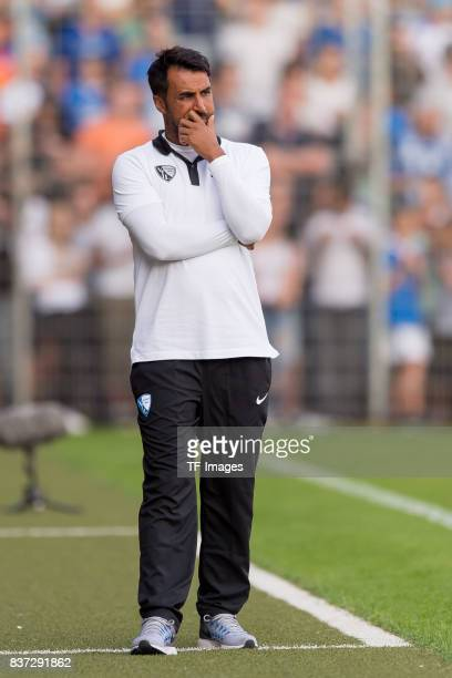 Head coach Ismail Atalan of Bochum gestures during the preseason friendly match between VfL Bochum and Borussia Dortmund at Vonovia Ruhrstadion on...