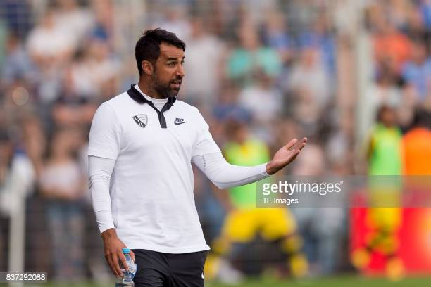 Head coach Ismail Atalan of Bochum gestures during the preseason friendly match between VfL Bochum and Borussia Dortmund at Vonovia Ruhrstadion on...