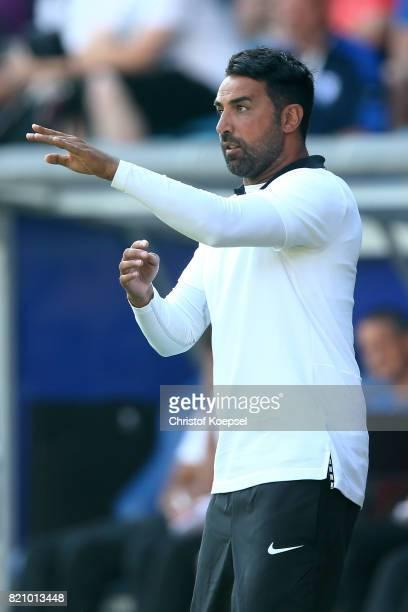 Head coach Ismail Atalan of Bochum issues instructions during the preseason friendly match between VfL Bochum and Borussia Dortmund at Vonovia...