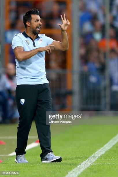 Head coach Ismail Atalan of Bochum issues instructions during the Second Bundesliga match between VfL Bochum 1848 and FC St Pauli at Vonovia...