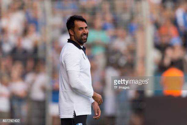 Head coach Ismail Atalan of Bochum laughs during the preseason friendly match between VfL Bochum and Borussia Dortmund at Vonovia Ruhrstadion on July...