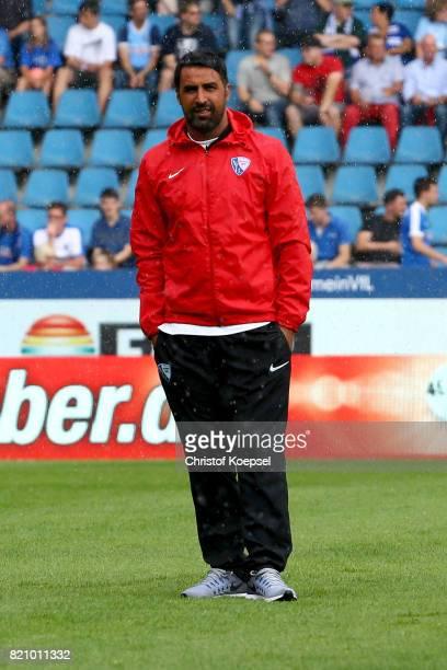 Head coach Ismail Atalan of Bochum looks on during the preseason friendly match between VfL Bochum and Borussia Dortmund at Vonovia Ruhrstadion on...