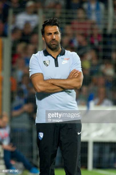 Head coach Ismail Atalan of Bochum looks on during the Second Bundesliga match between VfL Bochum 1848 and FC St Pauli at Vonovia Ruhrstadion on July...