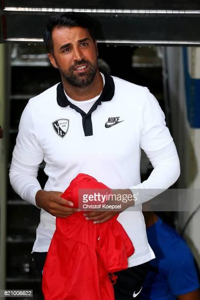 Head coach Ismail Atalan of Bochum looks on prior to the preseason friendly match between VfL Bochum and Borussia Dortmund at Vonovia Ruhrstadion on...