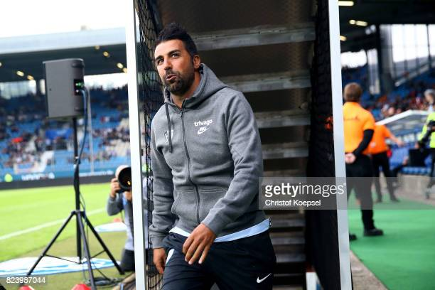 Head coach Ismail Atalan of Bochum looks on prior to the Second Bundesliga match between VfL Bochum 1848 and FC St Pauli at Vonovia Ruhrstadion on...