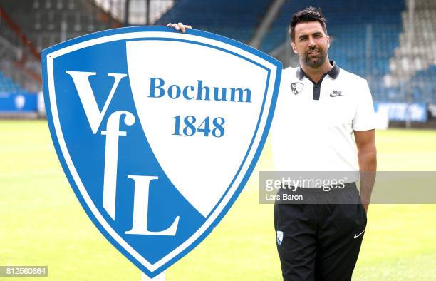 Head coach Ismail Atalan of VfL Bochum poses during the team presentation at Vonovia Ruhrstadion on July 11 2017 in Bochum Germany
