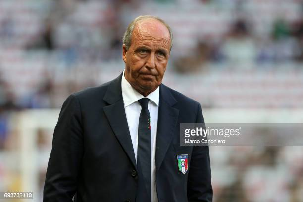 Head coach Italy Gian Piero Ventura looks on before the international friendly match between Italy and Uruguay Italy wins 30 over Uruguay