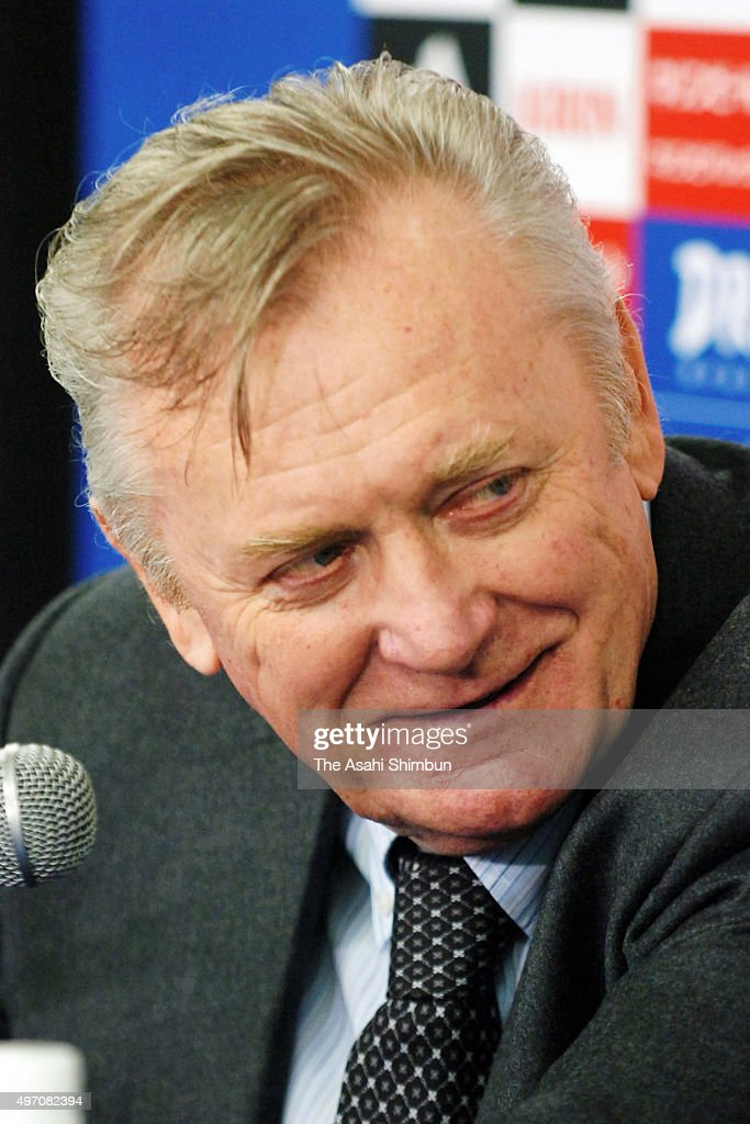Head coach <a gi-track='captionPersonalityLinkClicked' href=/galleries/search?phrase=Ivica+Osim&family=editorial&specificpeople=776551 ng-click='$event.stopPropagation()'>Ivica Osim</a> speaks during a press conference after the international friendly match between Japan and Peru at Nissan Stadium on March 24, 2007 in Yokohama, Kanagawa, Japan.