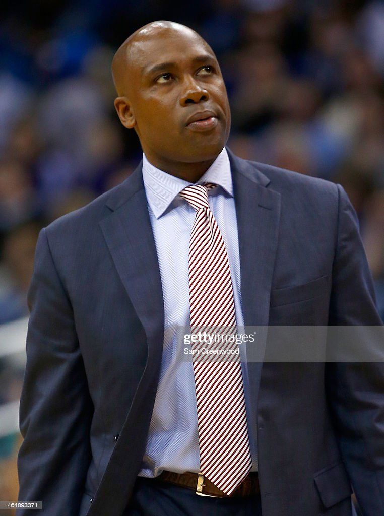 Head coach <a gi-track='captionPersonalityLinkClicked' href=/galleries/search?phrase=Jacque+Vaughn&family=editorial&specificpeople=201747 ng-click='$event.stopPropagation()'>Jacque Vaughn</a> of the Orlando Magic watches the action during the game between the Orlando Magic and the Los Angeles Lakers at Amway Center on January 24, 2014 in Orlando, Florida.