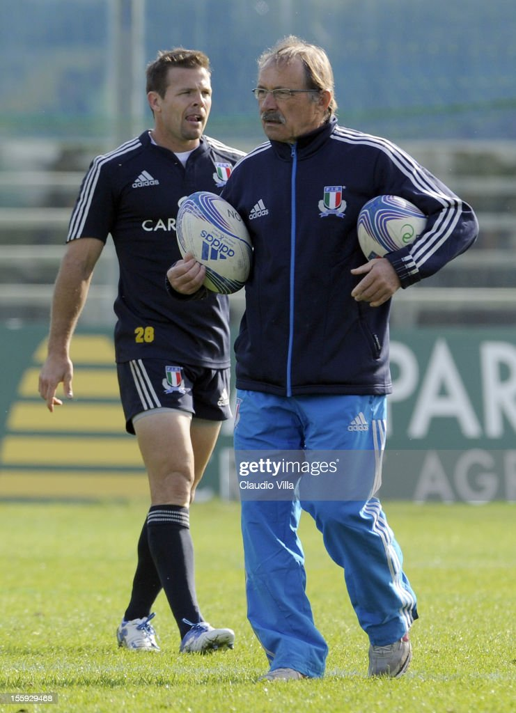 Head coach Jacques Brunel during Italy Captain's Run at Mario Rigamonti Stadium on November 9, 2012 in Brescia, Italy.