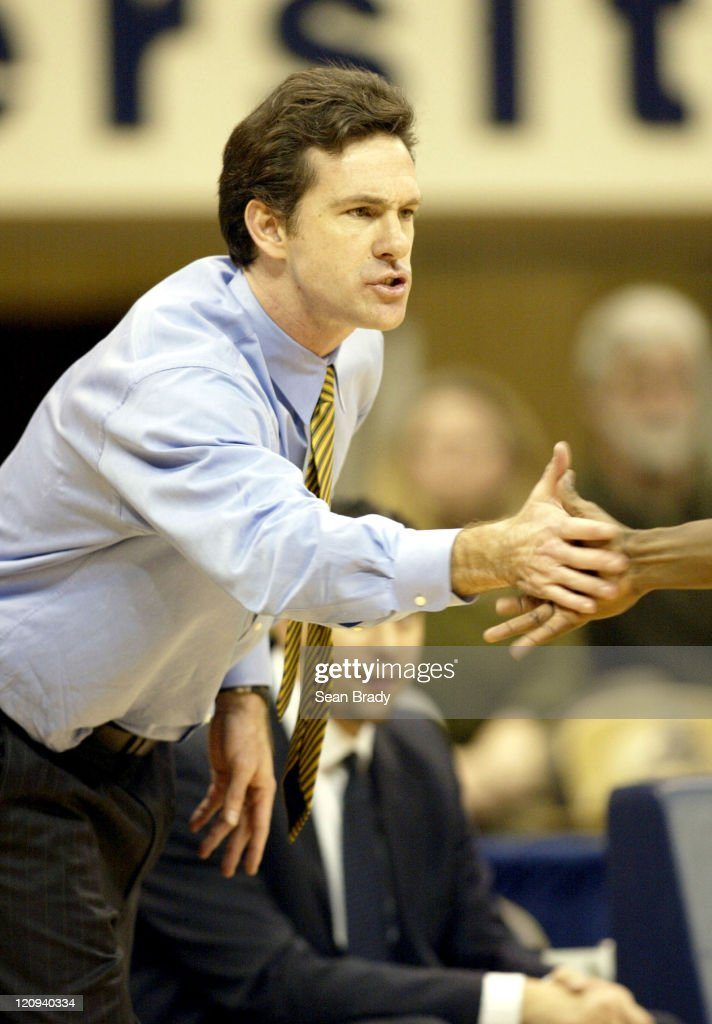 Head Coach <a gi-track='captionPersonalityLinkClicked' href=/galleries/search?phrase=Jamie+Dixon&family=editorial&specificpeople=234974 ng-click='$event.stopPropagation()'>Jamie Dixon</a> University of Pittsburgh in a game against Florida States, December 22, 2003.