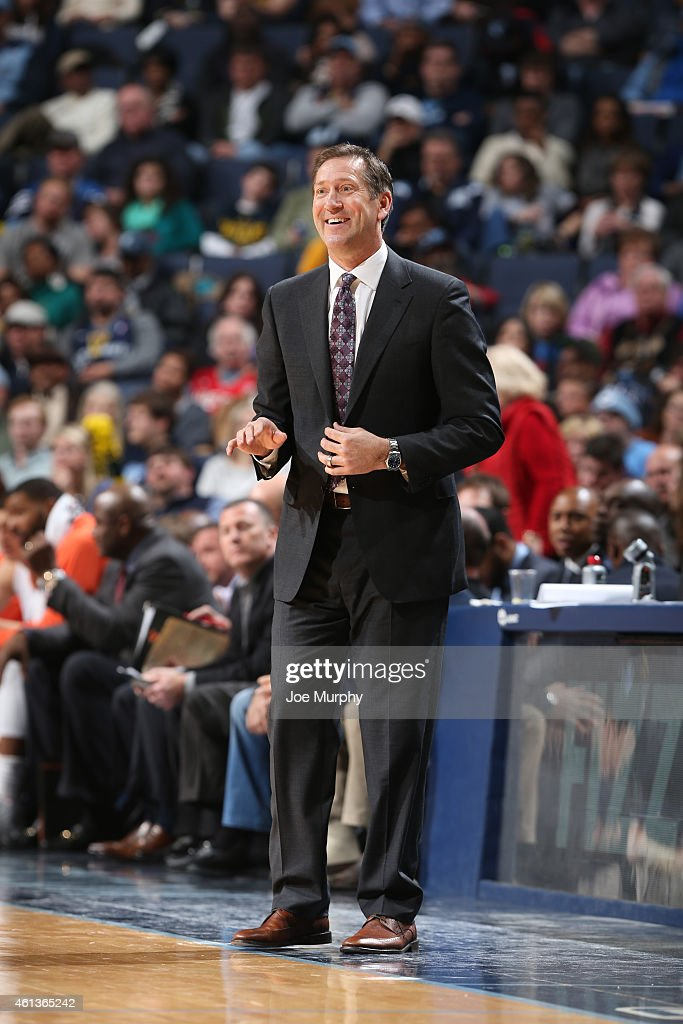 Head coach Jeff Hornacek of the Phoenix Suns during the game on January 11 2015 at FedExForum in Memphis Tennessee NOTE TO USER User expressly...