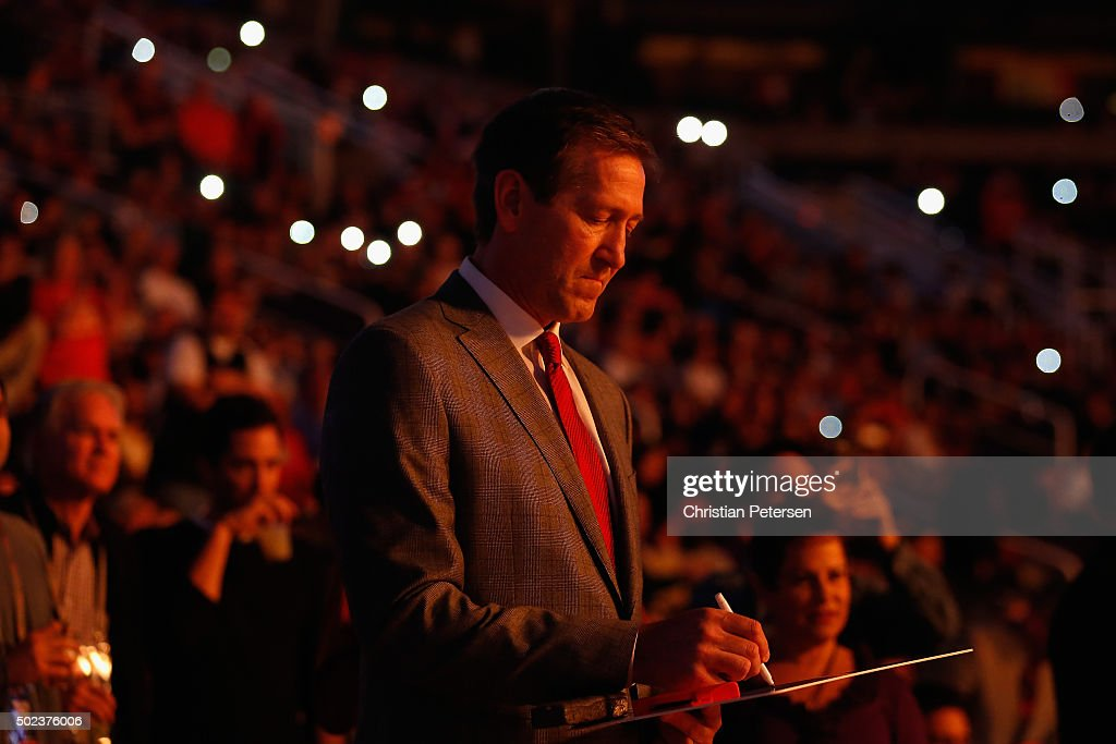 Head coach Jeff Hornacek of the Phoenix Suns stands on the court during player introductions to the NBA game against the Denver Nuggets at Talking...
