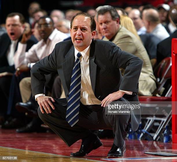 Rockets Vs Warriors Head To Head This Season: Jeff Van Gundy Stock Photos And Pictures