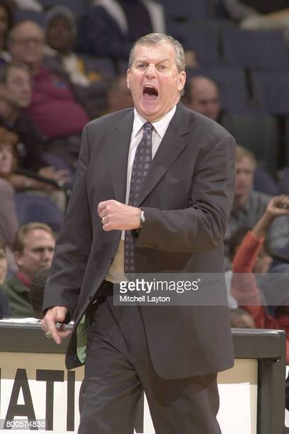 Head coach Jim Calhoun of the Connecticut Huskies looks on during the BBT College Basketball Classic game against the George Washington Colonials at...