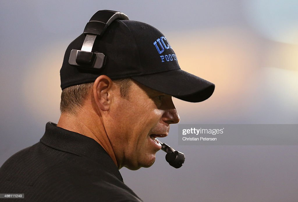 Head coach <a gi-track='captionPersonalityLinkClicked' href=/galleries/search?phrase=Jim+Mora&family=editorial&specificpeople=210729 ng-click='$event.stopPropagation()'>Jim Mora</a> of the UCLA Bruins reacts on the sidelines during the college football game against the Arizona State Sun Devils at Sun Devil Stadium on September 25, 2014 in Tempe, Arizona.