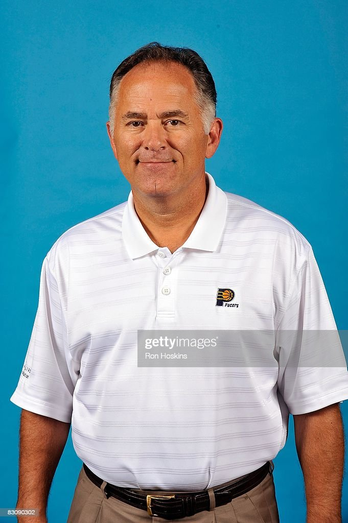 Head coach Jim O'Brien of the Indiana Pacers poses for a portrait on NBA Media Day on September 29 2008 at Conseco Fieldhouse in Indianapolis Indiana...