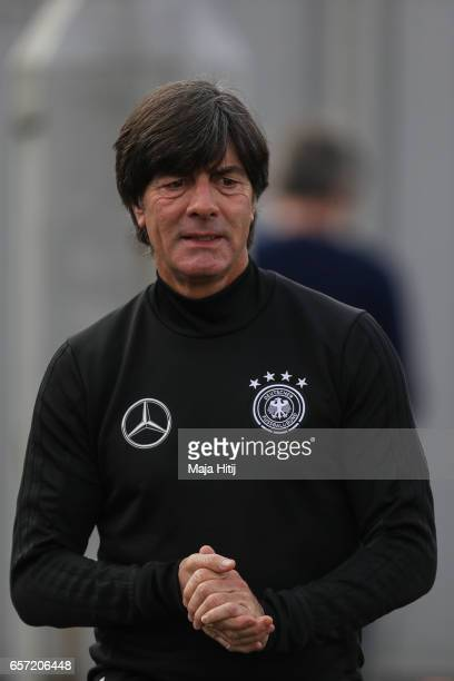 Head coach Joachim Loew during training of German national team ahead of the FIFA World Cup qualification match 2018 against Azerbaijan on March 24...