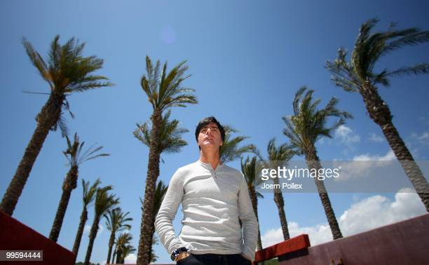 Head coach Joachim Loew of Germany is pictured after a press conference at Verdura Golf and Spa Resort on May 16 2010 in Sciacca Italy