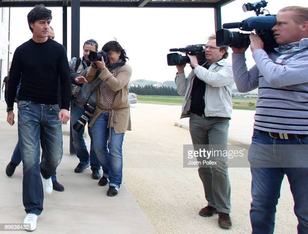 Head coach Joachim Loew of Germany is pictured after a press conference on May 17 2010 in Sciacca Italy