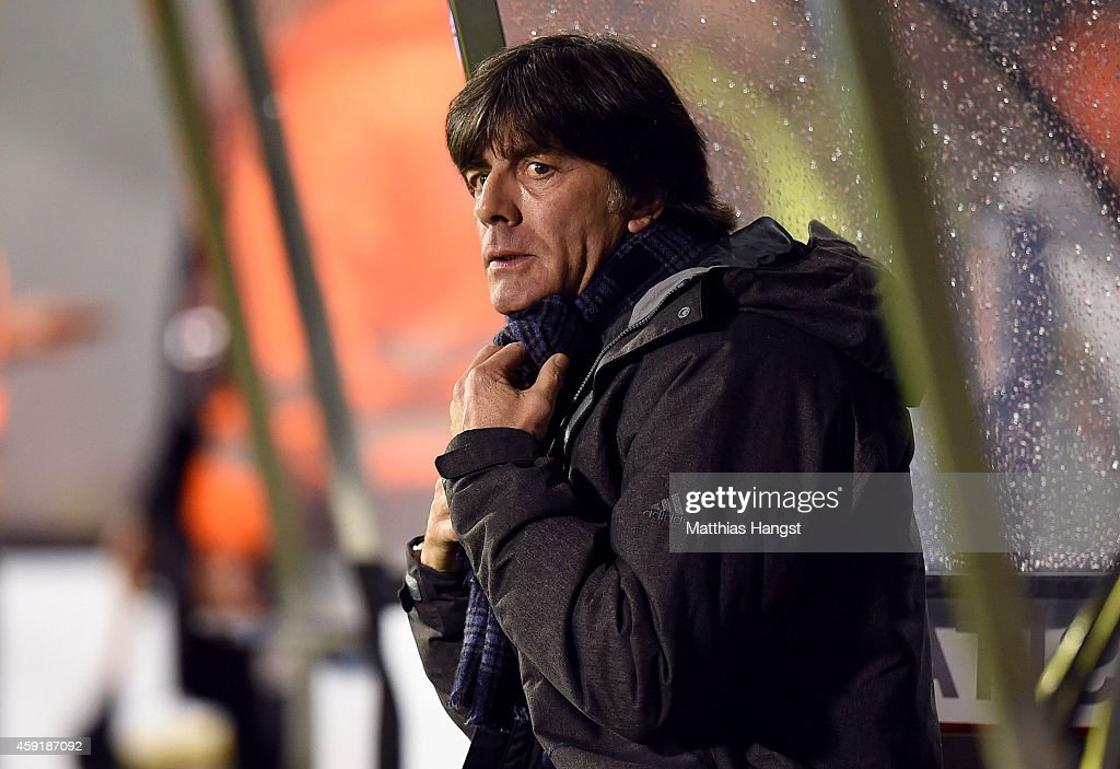 Head Coach Joachim Loew of Germany prior to the International Friendly match between Spain and Germany at Estadio Balaidos on November 18 2014 in...