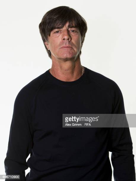 Head coach Joachim Loew poses for a picture during the Germany team portrait session on June 16 2017 in Sochi Russia