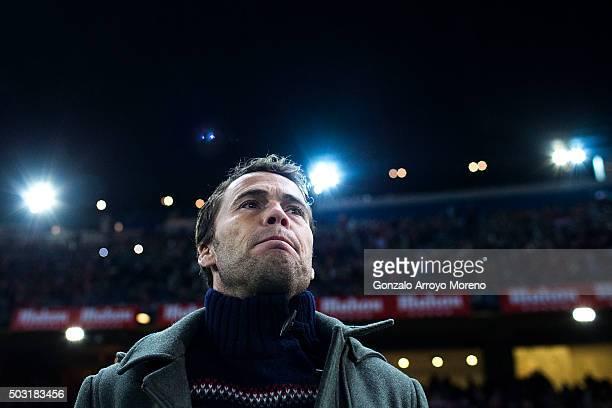 Head coach Joan Francesc Ferrer alias Rubi of Levante UD looks on prior to start the La Liga match between Club Atletico de Madrid and Levante UD at...