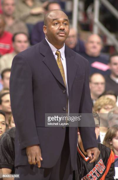 Head coach John Thompson III of the Princeton Tigers looks on during the BBT College Basketball Classic game against the Maryland Terrapins at MCI...