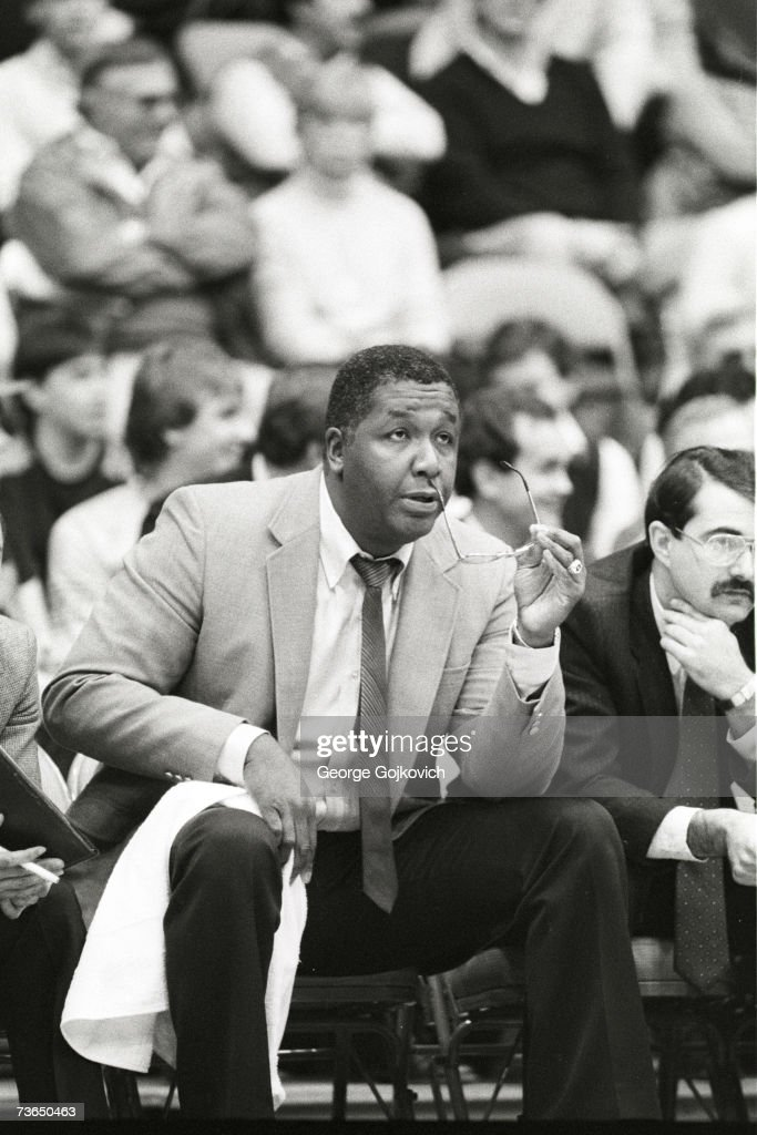 Head coach John Thompson of the Georgetown University Hoyas on the bench during a game against the University of Pittsburgh Panthers at the Pitt...