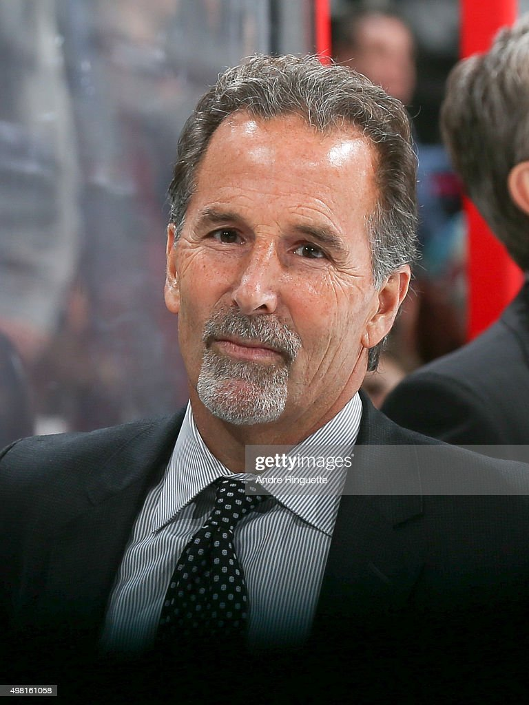 Head coach <a gi-track='captionPersonalityLinkClicked' href=/galleries/search?phrase=John+Tortorella&family=editorial&specificpeople=213393 ng-click='$event.stopPropagation()'>John Tortorella</a> of the Columbus Blue Jackets looks on from the bench prior to a game against the Ottawa Senators at Canadian Tire Centre on November 19, 2015 in Ottawa, Ontario, Canada.