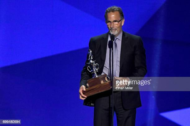 Head coach John Tortorella of the Columbus Blue Jackets speaks after winning the Jack Adams Award as 'the NHL coach adjudged to have contributed the...