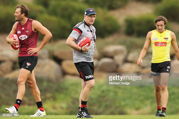 Head coach John Worsfold looks on during an Essendon Bombers AFL preseason training session at True Value Solar Centre on January 8 2016 in Melbourne...