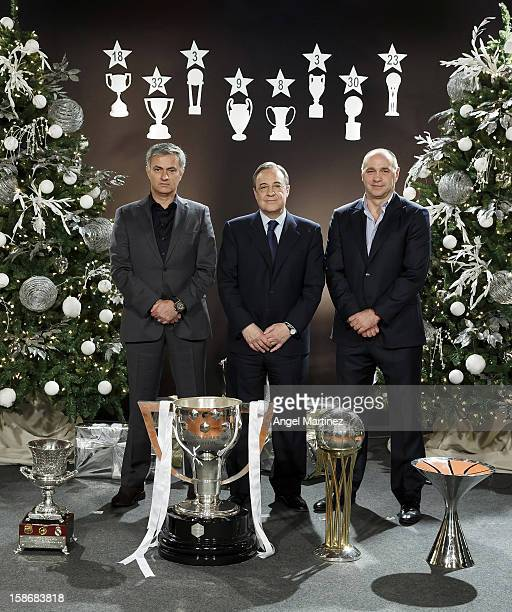 ¿Cuánto mide Florentino Pérez? - Altura - Real height Head-coach-jose-mourinho-president-florentino-perez-and-basketball-picture-id158683818?s=612x612